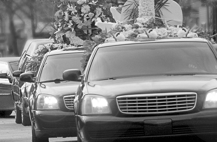 Funeral cortege romania